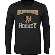 NHL Youth Vegas Golden Knights Morning Skate Black Long Sleeve Shirt