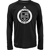 adidas Youth Los Angeles Kings Practice Black Performance Long Sleeve Shirt