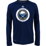 adidas Youth Buffalo Sabres Practice Navy Performance Long Sleeve Shirt