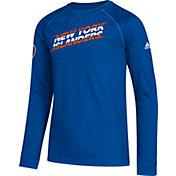 adidas Youth New York Islanders Line Shift Royal Long Sleeve Shirt