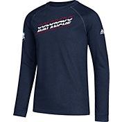 adidas Youth Colorado Avalanche Line Shift Navy Long Sleeve Shirt