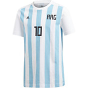 adidas Youth 2018 FIFA World Cup Argentina Lionel Messi #10 T-Shirt