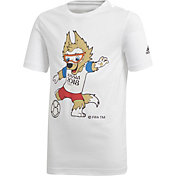 adidas Youth 2018 FIFA World Cup Mascot White T-Shirt