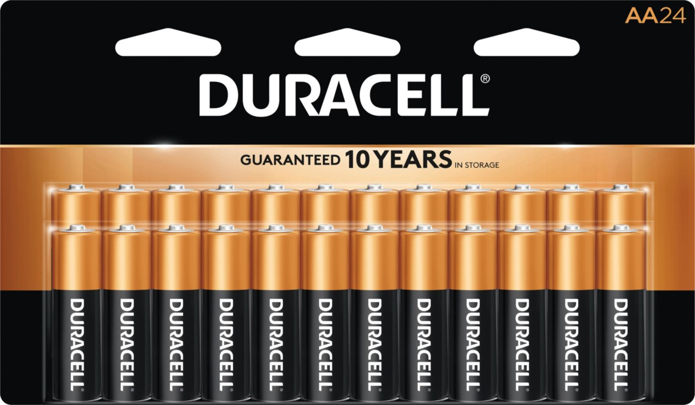 Duracell Coppertop AA Alkaline Batteries – 24 Pack