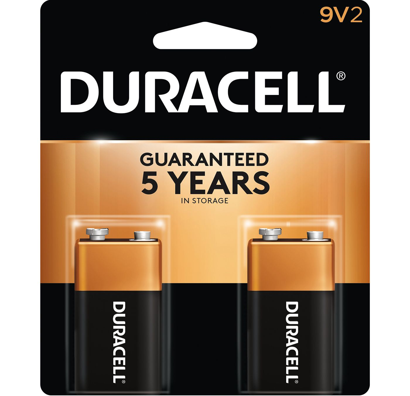 Duracell Coppertop 9V Alkaline Batteries – 2 Pack