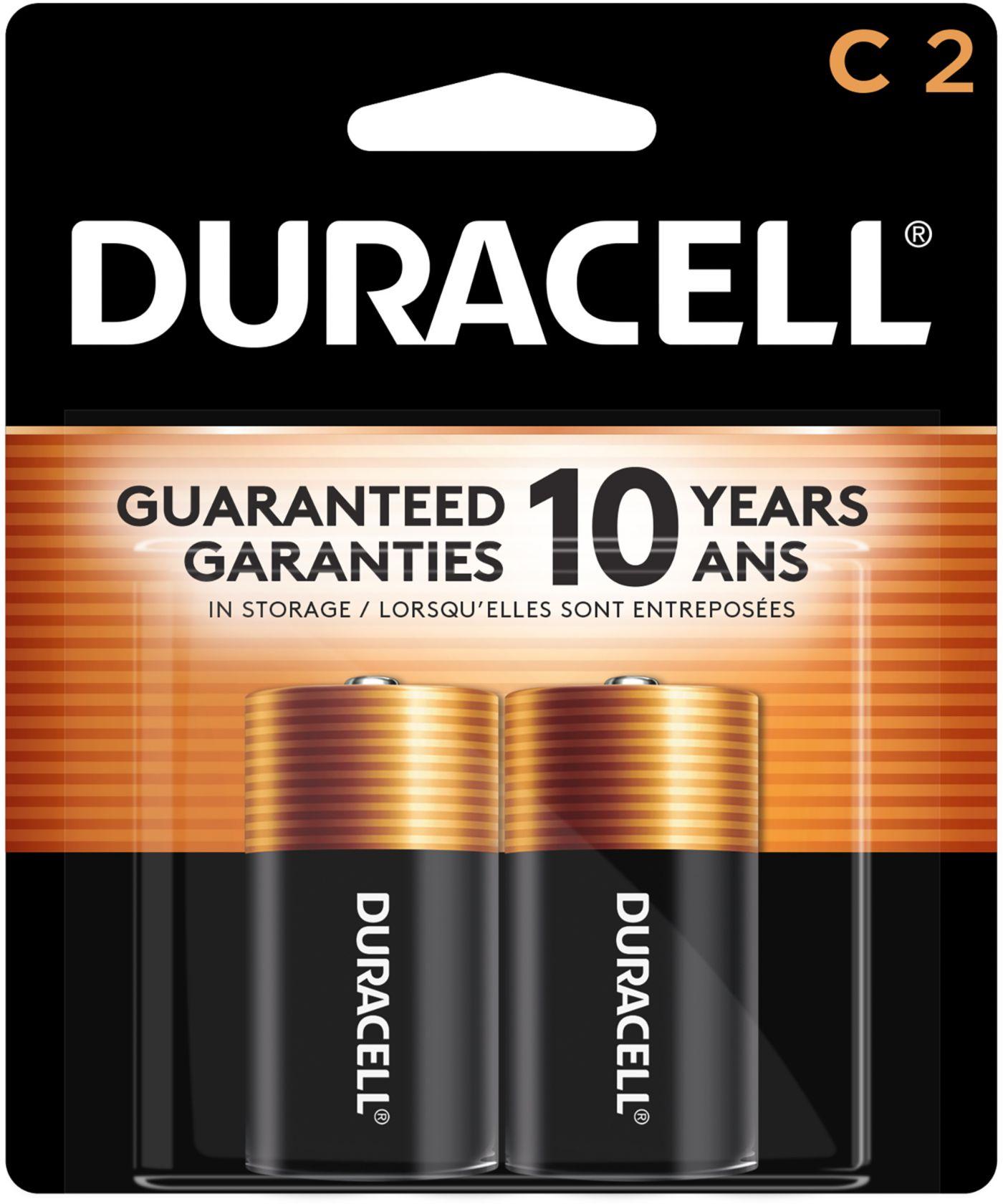 Duracell Coppertop C Alkaline Batteries – 2 Pack