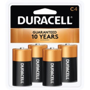 Duracell Coppertop C Alkaline Batteries – 4 Pack