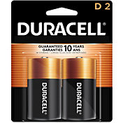 Duracell Coppertop D Alkaline Batteries – 2 Pack