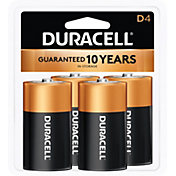 Duracell Coppertop D Alkaline Batteries – 4 Pack