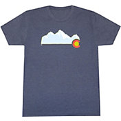 Aksels Men's Colorado Mountain Tri-Blend T-Shirt