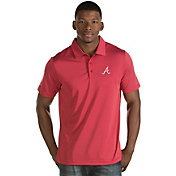 Antigua Men's Atlanta Braves Quest Red Performance Polo