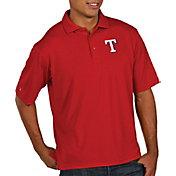 Antigua Men's Texas Rangers Pique Red Performance Polo