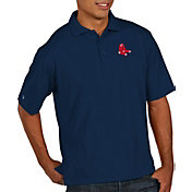 Antigua Men's Boston Red Sox Pique Navy Performance Polo