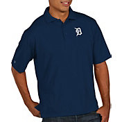 Antigua Men's Detroit Tigers Pique Navy Performance Polo