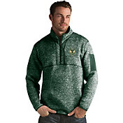 Antigua Men's Milwaukee Bucks Fortune Green Half-Zip Pullover