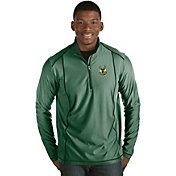Antigua Men's Milwaukee Bucks Tempo Green Quarter-Zip Pullover