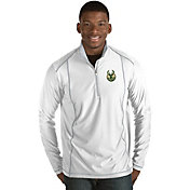 Antigua Men's Milwaukee Bucks Tempo White Quarter-Zip Pullover