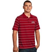Antigua Men's Los Angeles Clippers Deluxe Red Striped Performance Polo