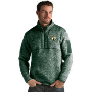 Antigua Men's Boston Celtics Fortune Kelly Green Half-Zip Pullover