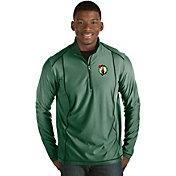 Antigua Men's Boston Celtics Tempo Kelly Green Quarter-Zip Pullover
