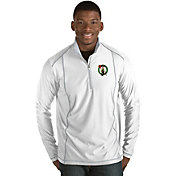 Antigua Men's Boston Celtics Tempo White Quarter-Zip Pullover