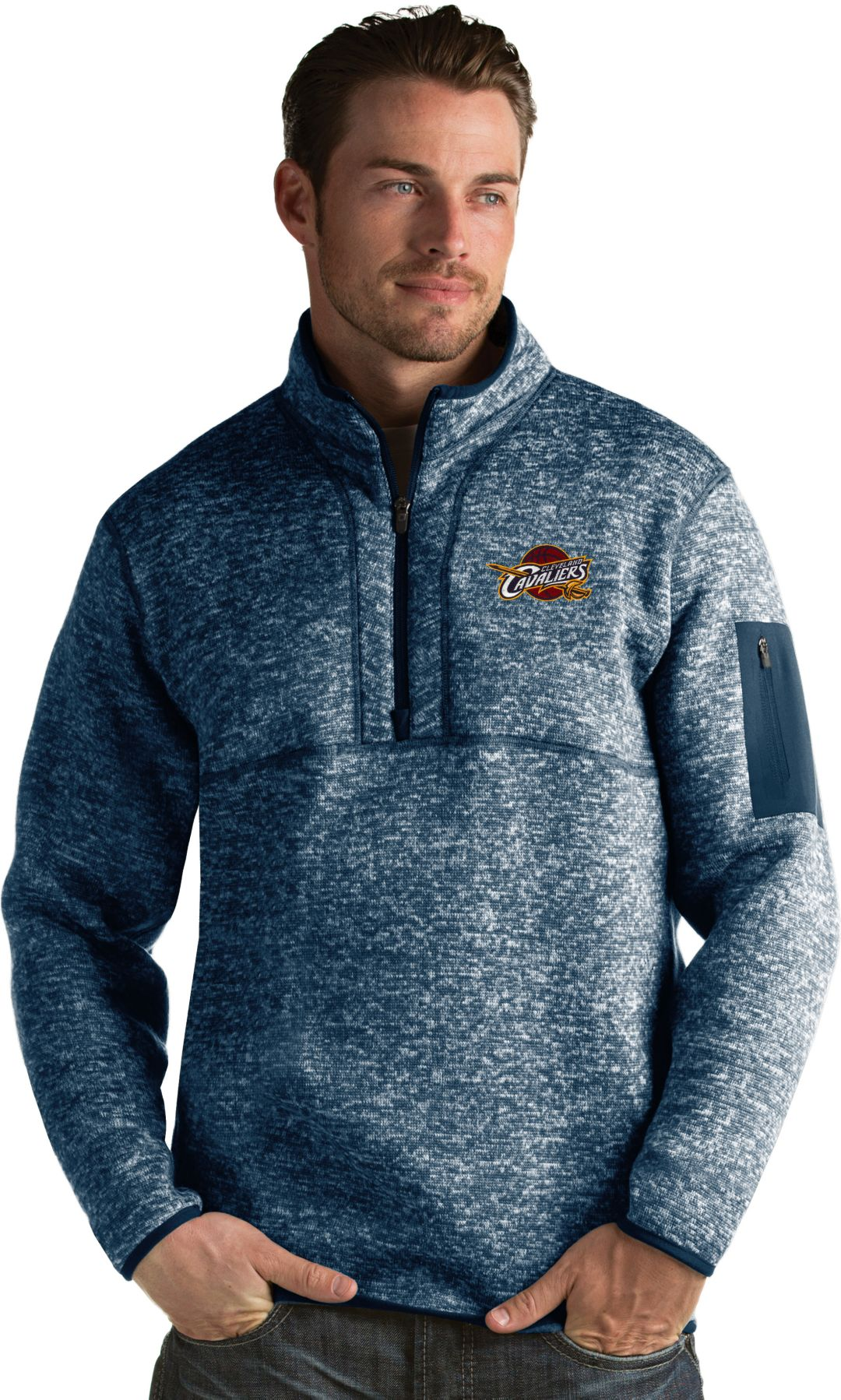 timeless design a997e 7f196 Antigua Men's Cleveland Cavaliers Fortune Navy Half-Zip Pullover