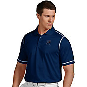 Antigua Men's Memphis Grizzlies Icon Navy Performance Polo