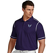 Antigua Men's Charlotte Hornets Icon Purple Performance Polo