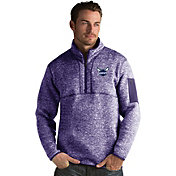 Antigua Men's Charlotte Hornets Fortune Purple Half-Zip Pullover