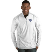 Antigua Men's Charlotte Hornets Tempo White Quarter-Zip Pullover