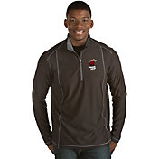 Antigua Men's Miami Heat Tempo Black Quarter-Zip Pullover