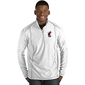 Antigua Men's Miami Heat Tempo White Quarter-Zip Pullover