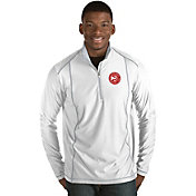 Antigua Men's Atlanta Hawks Tempo White Quarter-Zip Pullover