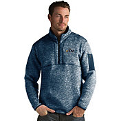 Antigua Men's Utah Jazz Fortune Navy Half-Zip Pullover