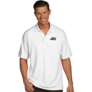 Antigua Men's Utah Jazz Xtra-Lite White Pique Performance Polo