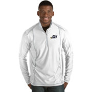 Antigua Men's Utah Jazz Tempo White Quarter-Zip Pullover