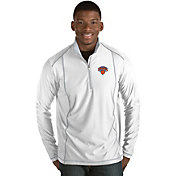 Antigua Men's New York Knicks Tempo White Quarter-Zip Pullover