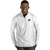 Antigua Men's Los Angeles Lakers Tempo White Quarter-Zip Pullover