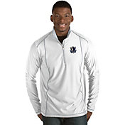 Antigua Men's Dallas Mavericks Tempo White Quarter-Zip Pullover