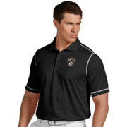 Antigua Men's Brooklyn Nets Icon Black Performance Polo