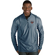 Antigua Men's New Orleans Pelicans Tempo Navy Quarter-Zip Pullover