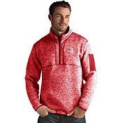 Antigua Men's Houston Rockets Fortune Red Half-Zip Pullover