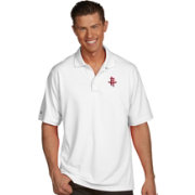 Antigua Men's Houston Rockets Xtra-Lite White Pique Performance Polo