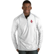 Antigua Men's Houston Rockets Tempo White Quarter-Zip Pullover