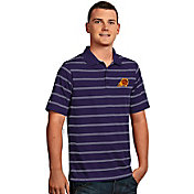 Antigua Men's Phoenix Suns Deluxe Purple Striped Performance Polo