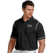 Antigua Men's San Antonio Spurs Icon Black Performance Polo