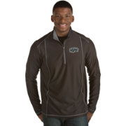 Antigua Men's San Antonio Spurs Tempo Black Quarter-Zip Pullover