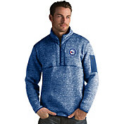 Antigua Men's Philadelphia 76ers Fortune Royal Half-Zip Pullover