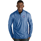 Antigua Men's Philadelphia 76ers Tempo Royal Quarter-Zip Pullover