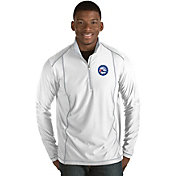 Antigua Men's Philadelphia 76ers Tempo White Quarter-Zip Pullover